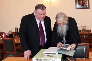 Губернатор Орловской области поздравил с 80-летием схиархимандрита Илия (Ноздрина)