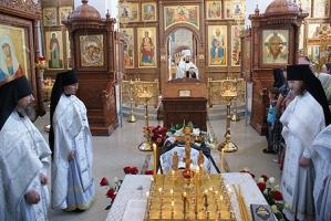 В Свято-Успенском монастыре Орла состоялось отпевание новопреставленного иеродиакона Иоанна