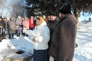 В дни празднования Богоявления под Глазуновкой освящен исток реки Ока