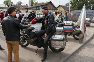 Орёл посетили участники всероссийской акции-мотопробега «Отцы России за многодетную семью»
