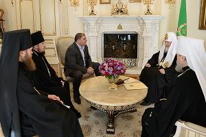 Состоялась встреча Святейшего Патриарха Кирилла с губернатором Орловской области