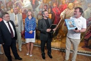 В Орле представлено историческое полотно Анатолия Костяникова к 460-летию Судбищ