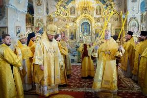 Архиерейская литургия в день памяти благоверных князей Бориса и Глеба в Богоявле