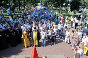 Духовенство Орловской епархии приняло участие в митинге Памяти, посвященном 74-й