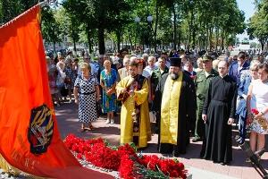 Духовенство Орловской епархии приняло участие в митинге Памяти, посвященном 73-й