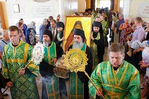 Встреча честных мощей преподобного Силуана Афонского в Богоявленском  соборе Орл