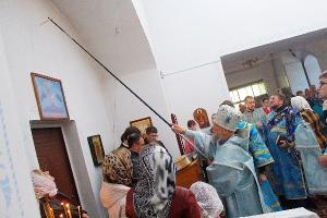Накануне в Знаменском районе освящен первый храм