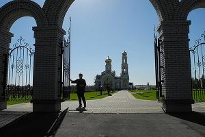 Репортаж о строительстве храма в д. Большое Сотниково Урицкого района