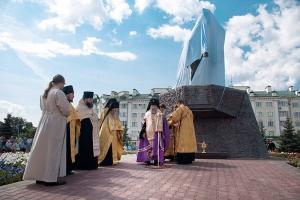 Архиепископ Антоний принял участие в церемонии открытия и освящения памятника генералу Алексею Петровичу Ермолову