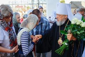 В день памяти святителя Тихона Задонского Архипастырь возглавил литургию в Ахтырском соборе
