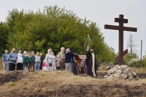 На месте былинного подвига Ильи Муромца освящен поклонный крест