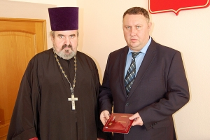 Глава Хотынецкого района удостоен награды Орловской епархии