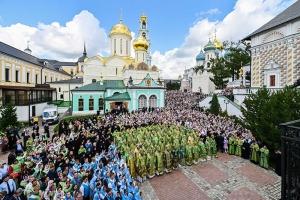 Владыка Тихон принял участие в торжествах в Троице-Сергиевой Лавре