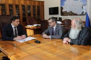 Владимир Легойда и митрополит Тихон встретились с Губернатором Орловской области Андреем Клычковым