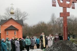 Поклонный крест установлен и освящен под Нарышкино