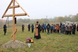 В память 150-летия Ивана Бунина поклонный крест установлен в поместье предков писателя