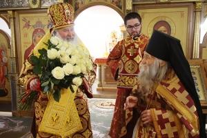 Орловцы поздравили схиархимандрита Илия с днем рождения