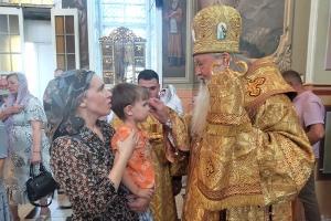 В канун Недели 5-й по Пятидесятнице Архипастырь совершил всенощное бдение в Ахтырском соборе