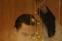 Вканун праздника Обрезания Господня идня памяти свт. Василия Великого митрополит Орловский иБолховский Тихон возглавил всенощное бдение вхраме Иверской иконы Божией Матери города Орла. 13 января 2020 г.