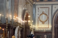 Патриаршим богослужением в Храме Христа Спасителя открылись Международных Рождественские чтения «Великая Победа: наследие и наследники». 26 января 2020 г.