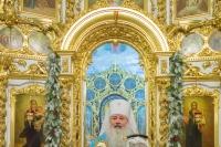 В праздник Рождества Христова митрополит Орловский и Болховский Тихон возглавил великую вечерню в Богоявленском соборе города Орла. 7 января 2021 г.