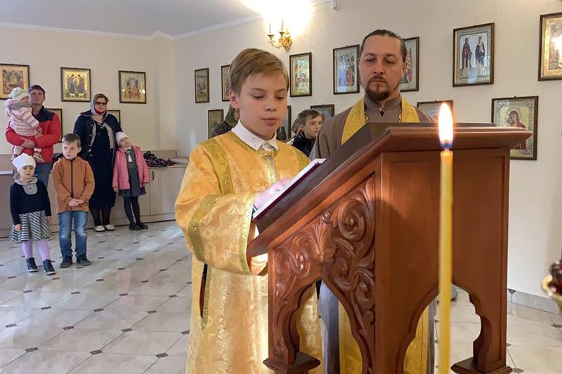 Детская литургия впервые состоялась в Иверском храме